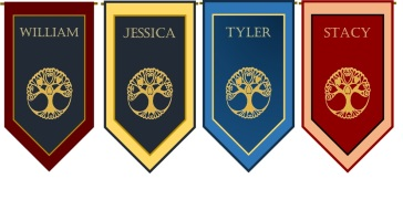 Four Child Banners