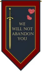 We Will Not Abandon banner